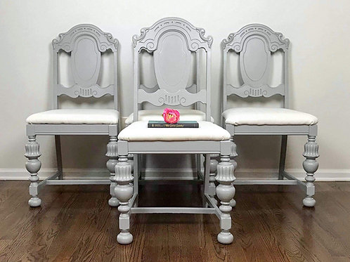 Gray Vintage Dining Chairs