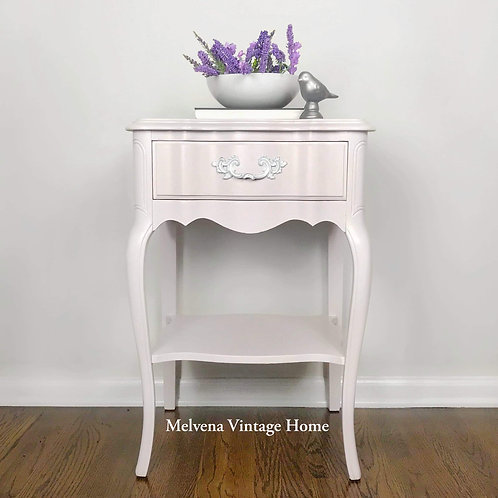 Lavender French Provincial Nightstand