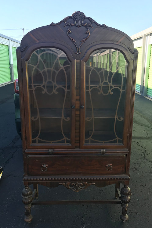 Stunning depression era china cabinet