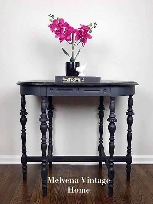 Navy & black occasional table