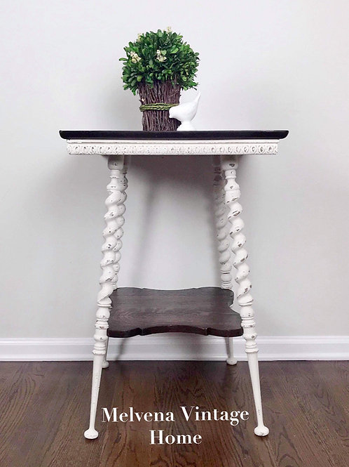 Antique spiral twist leg occasional table