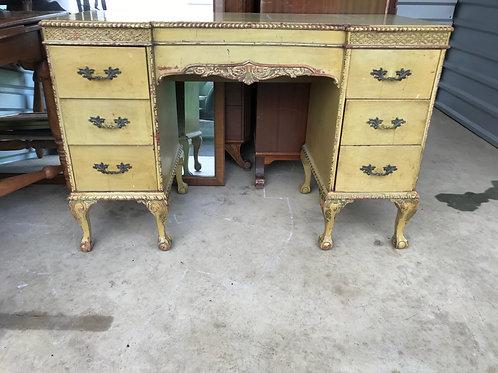 Vintage 6 drawer desk