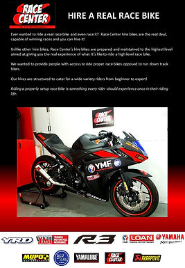 Your chance to hire a dedicated race bike!