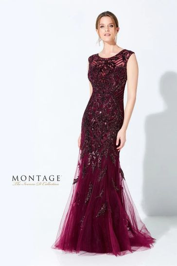 Wine Color Formal Dress
