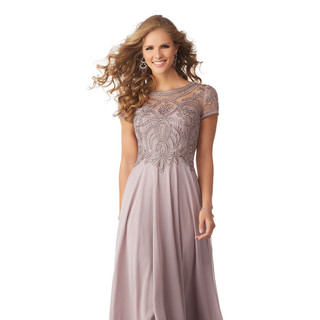 Mauve mother of the wedding dress