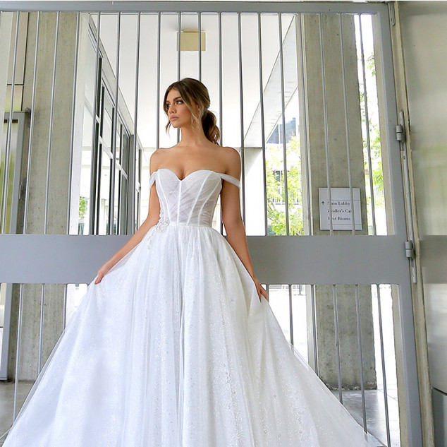 Edgy wedding gowns