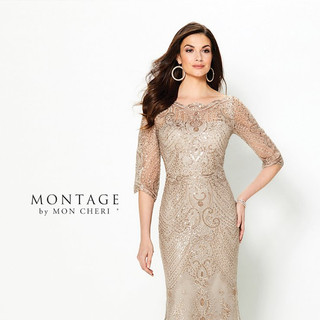 Sleeved mother of the wedding dress