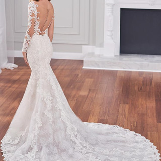 Long sleeve wedding dresses with low back