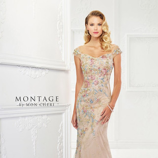 Champagne colored mothers dress
