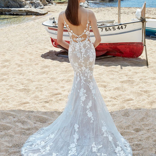 low back wedding gowns
