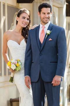 Navy & Blush Wedding Party