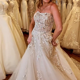 Glitter wedding dresses