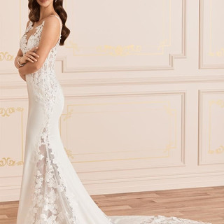 Crepe wedding gowns