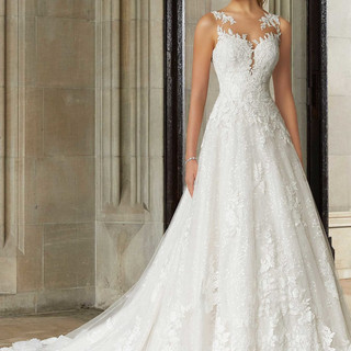 Bridal gowns with glitter