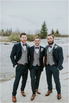 Gray Vest Brown Shoes for Groomsmen.jpeg