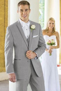 Light Gray Groomsmen Suit