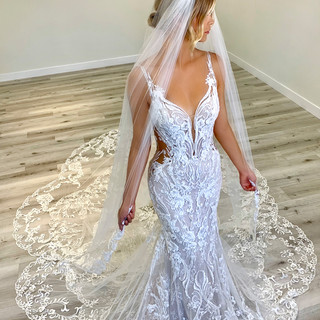 Wedding dresses with side cut outs