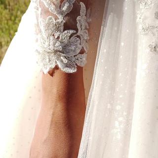 Long sleeve ballgown