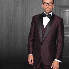 Maroon & Black Suit for Groom