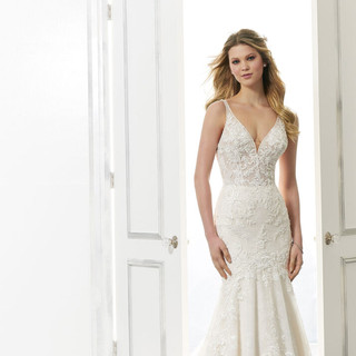 Sparkly fitted bridal dresses