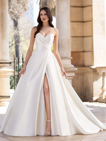 Simple ballgowns with a slit