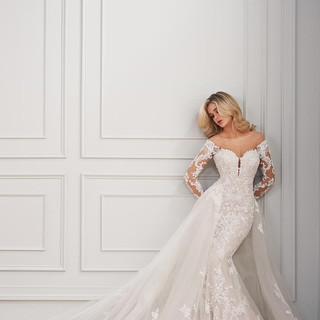 Wedding dresses with overskirts