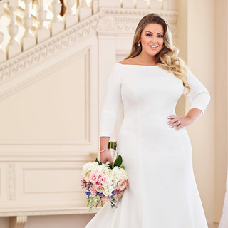 Simple wedding dresses with sleeves
