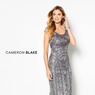 Charcoal mother of the wedding dress