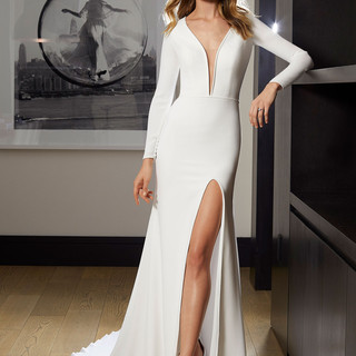 wedding dresses with a plunge