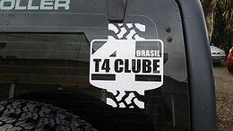 Adesivo recorte T4 clube Brasil