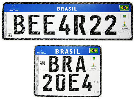 Até 2020 em todos veículos. Nova Placa Mercosul.