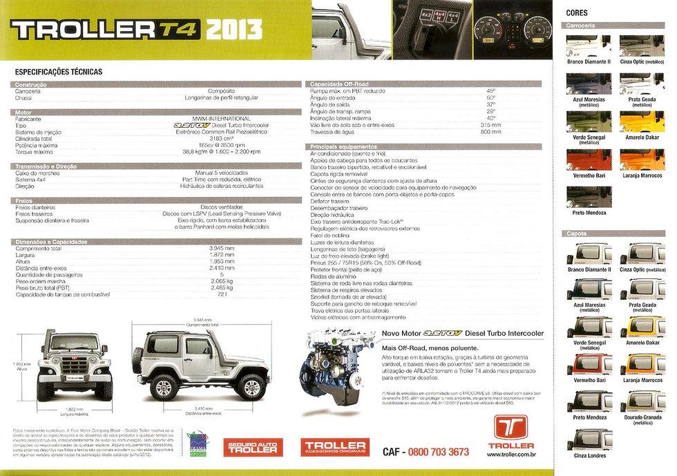 Catalogo Troller 3.2 TGV 2013