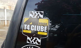 T4 Clube Brasil Adesivo