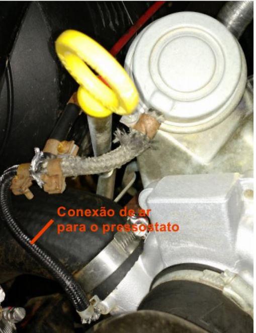 Instalação manometro pressão turbo no troller foto 2
