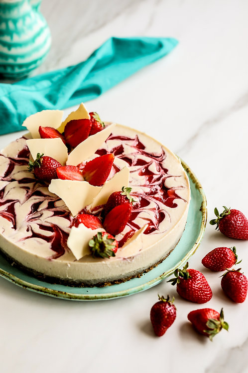 Torta Mesclada de Morango