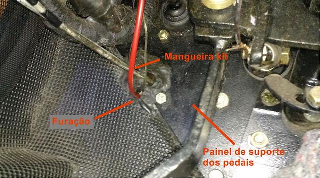 Instalação manometro pressão turbo no troller foto 3a
