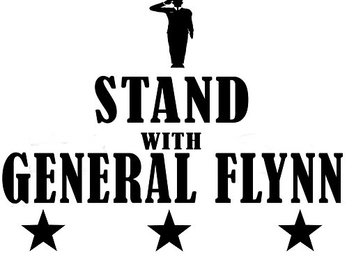 I Stand With General Flynn Window Decal