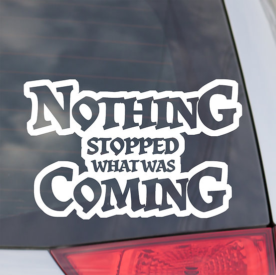 Nothing Stopped What Was Coming Decal