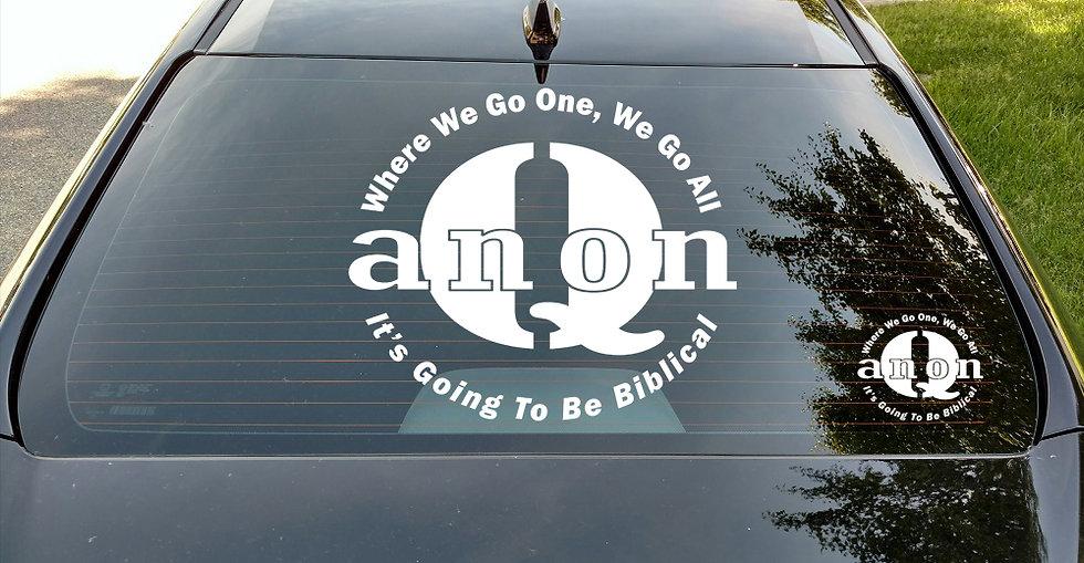 QAnon - WWG1WGA - Biblical Decal