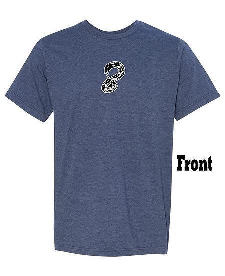 8kun Navy 50/50 Unisex T-Shirt (Front Print)