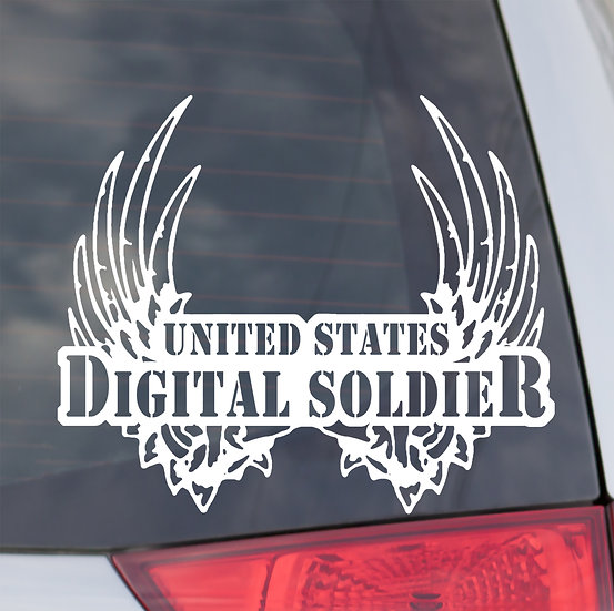 United States Digital Angel Decal