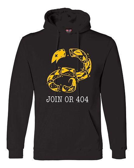 8kun - Join or 404 Black Hoodie -USA MADE