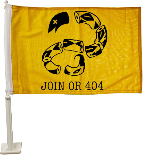 Yellow - Join or 404 - Car Flag