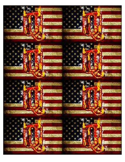 American Flag Fire Q