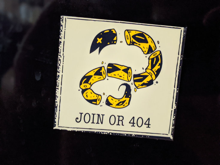 Join or 404 Sticker