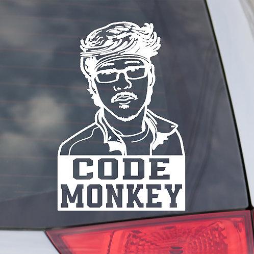 Code Monkey Window Decal