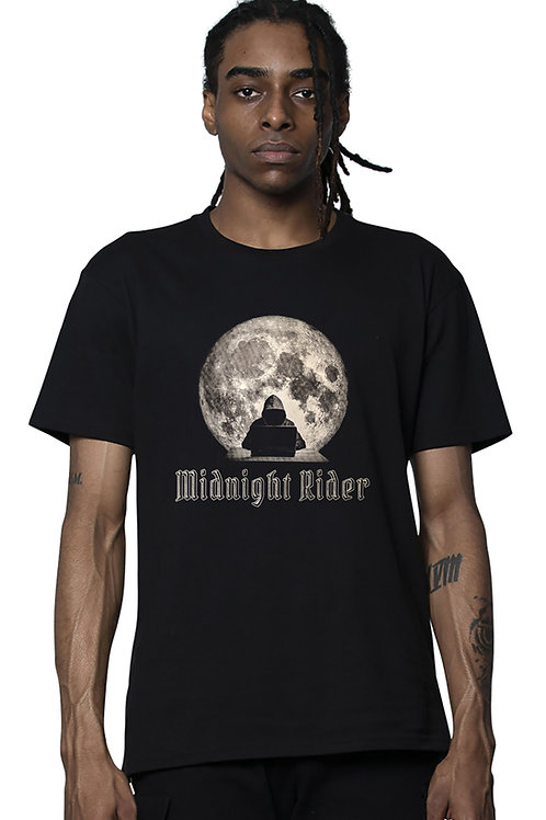 Midnight Rider - Unisex Short Sleeve Heavyweight T-Shirt