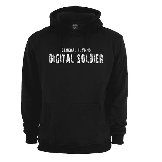 General Flynn's Digital Soldier Black Hoodie