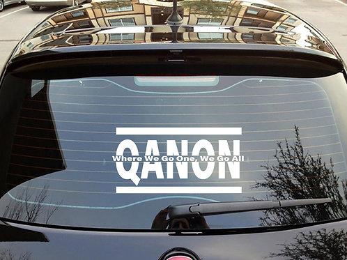 Qanon-WWG1WGA Car Decal