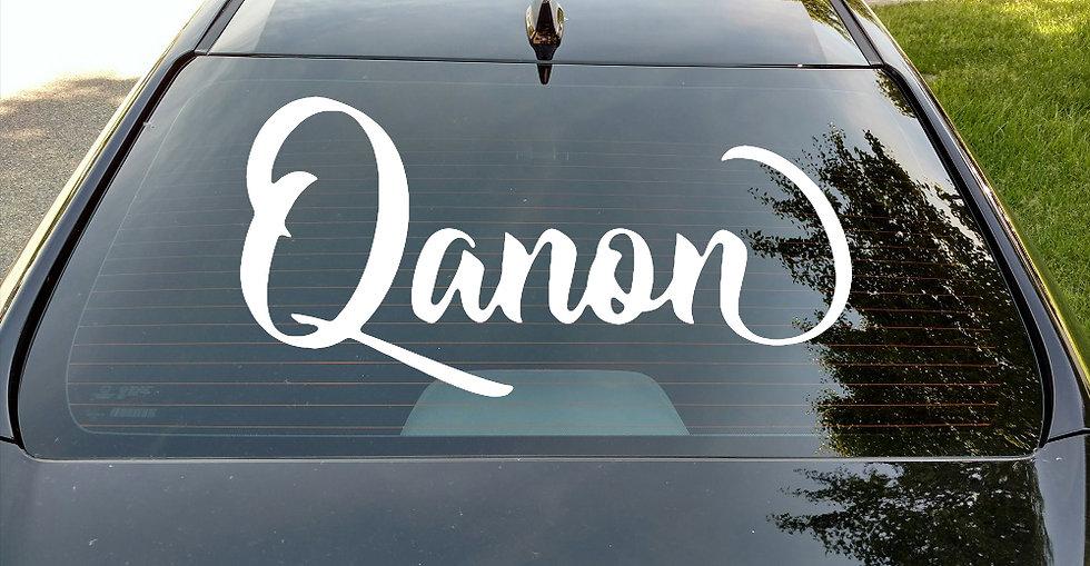 Qanon Window Car Decal
